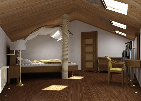 Мансарда - как полноценное жилое помещение.